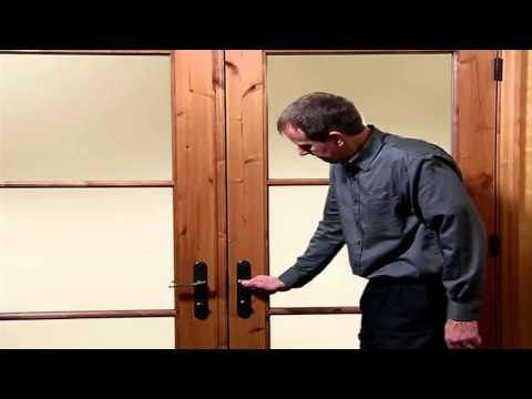 multi point lock operation on hinged patio doors