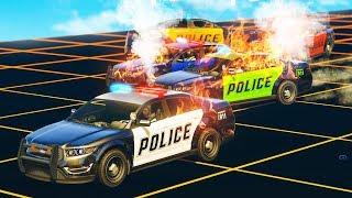CRASHING COP CARS!