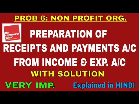 PROBLEM 6 ON ACCOUNTING FOR NOT FOR PROFIT ORGANISATION|PREPARATION OF RECEIPTS AND PAYMENTS ACCOUNT