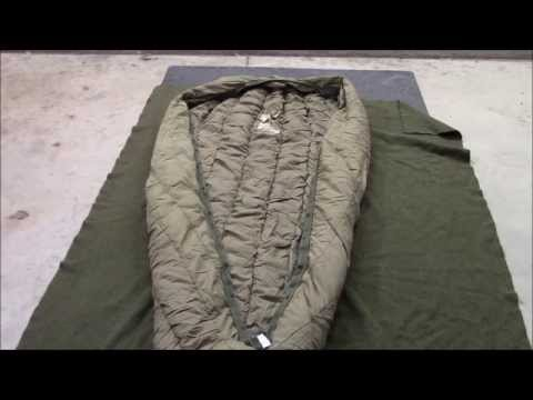 USGI Down Sleeping Bag - And The Duck It Rode In On.