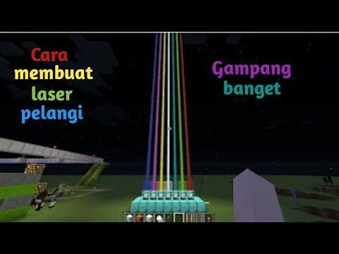 Cara membuat laser pelangi keren di jamin berhasil di minecraft PC dan PE (minecraft Indonesia)