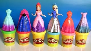 Play Doh MagiClip Anna Elsa Fashion Collection Disney Frozen Mix-and-Match Magic Clip PlayDough