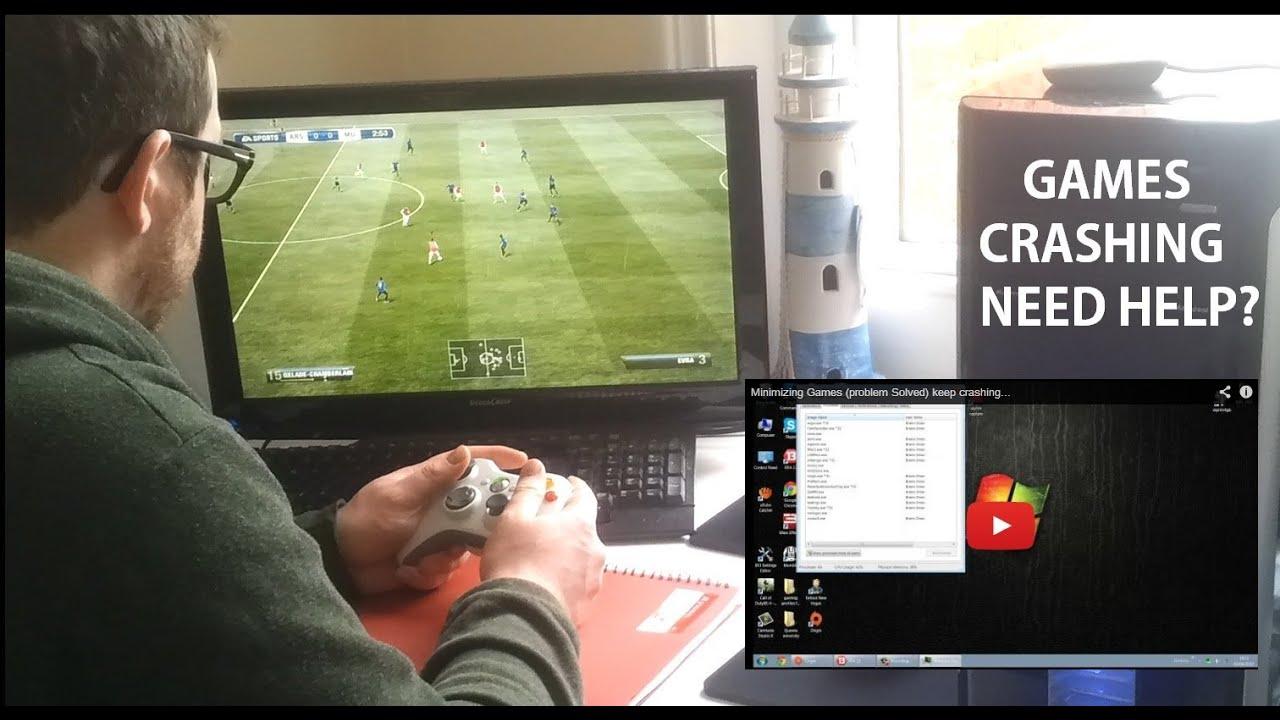 GAMES Minimizing to Desktop (problem Solved) keep crashing to Desktop
