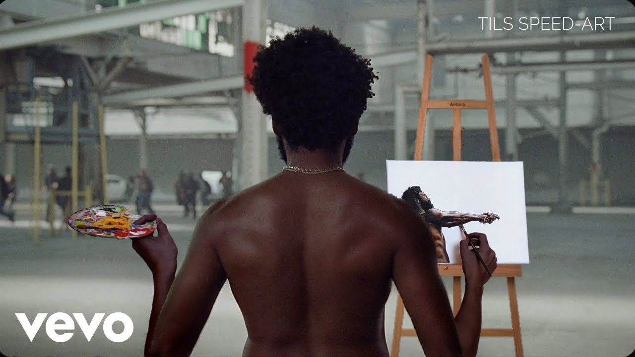 THIS IS AMERICA BUT IT'S A PAINTING