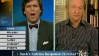 Mid 2000's Flashback - Tucker Carlson and Bill Maher get in heated exchange over Bush years
