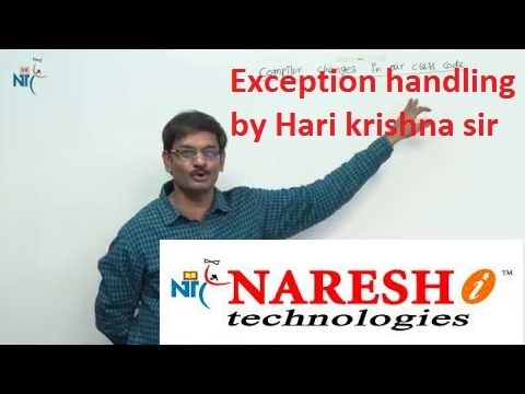 Exception handling workshop by HARI KRISHNA SIR