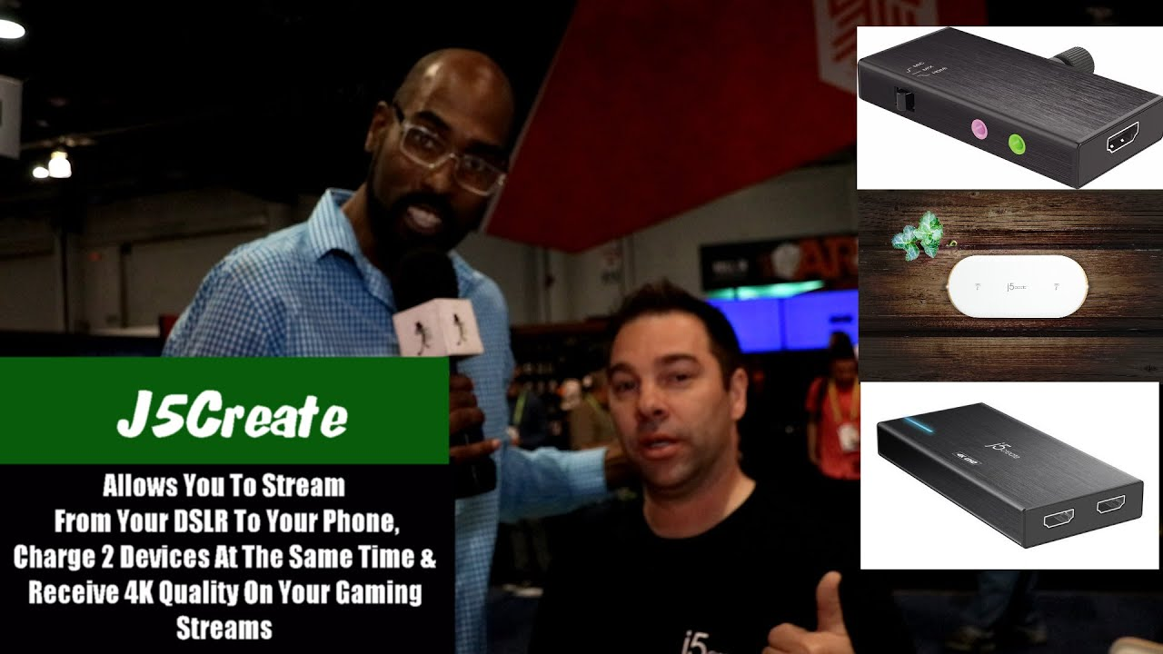 J5 Create Allows You To Use Your DSLR With Your Phone For Livestreaming &  Introduces More Tech
