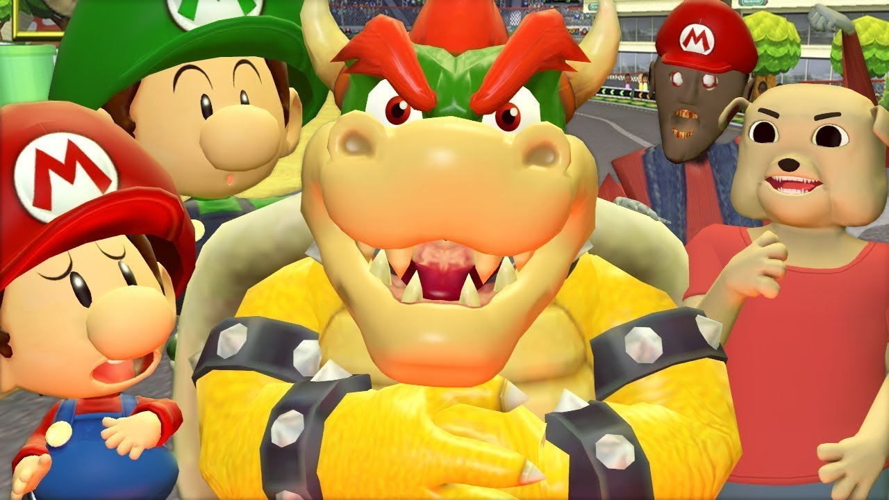 5 Grannies 3: Mario Kart (Español Granny 2 La Abuela Bowser Parodia Animada 3D)