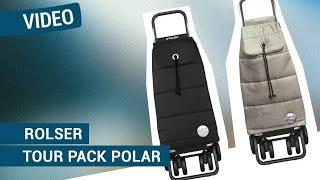 Produktvideo zu Einkaufstrolley mit 4 Rädern aus leichtem Alu Rolser Logic Tour Pack Polar