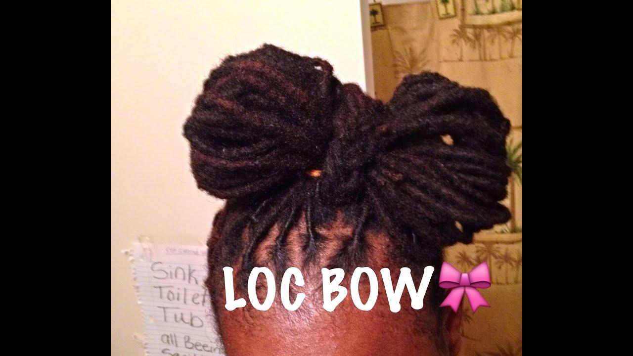 Loc 🎀 Bun on short to medium locs how to