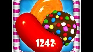 Candy Crush - Level 1242 - 3 Stars - No Booster