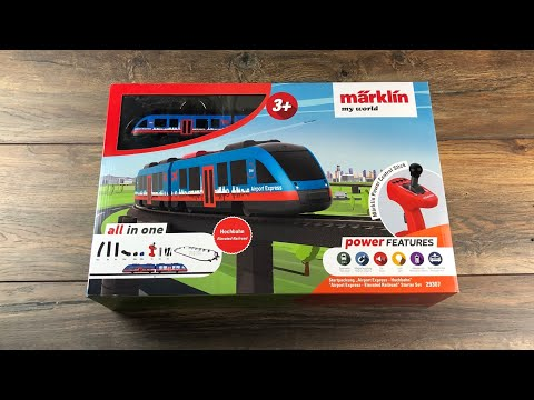 Märklin MyWorld Startpackung 29307 Flughafen Hochbahn -Test Review Unboxing der Kinder Eisenbahb