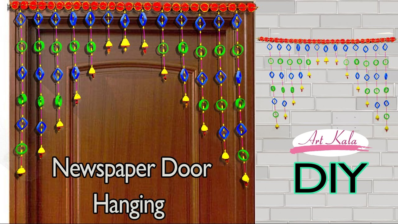 Newspaper Wall Hanging | Bandhanwar | Door Hanging | Toran | Artkala