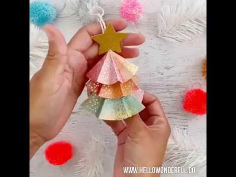 DIY Paper Tree Ornaments