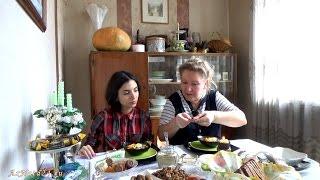 Готовим суп с морской капустой в реальном времени с байками на кухне