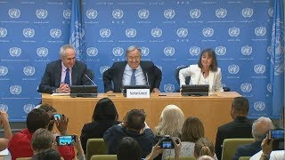 World Refugee Day - UN Secretary-General Press Conference (Highlights) thumbnail