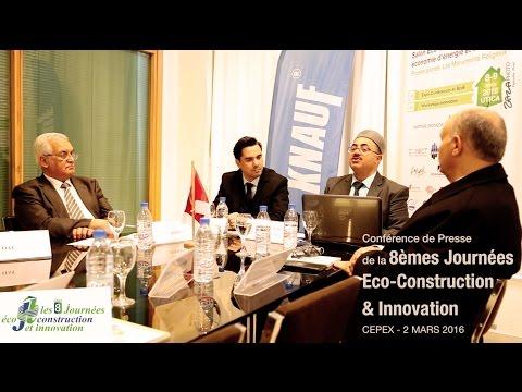 Conférence de Presse 8èmes Journées de l'Eco - Construction et Innovation