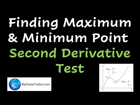 finding maximum and minimum point second derivative test. Black Bedroom Furniture Sets. Home Design Ideas