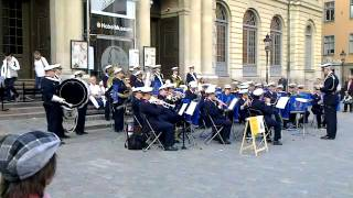 Swedish airforce band playing in Stortorget, Stockholm.