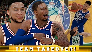 NBA 2K19 MyCAREER - Team Takeover! BEN SIMMONS INSANE CONTACT DUNKS!