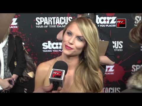 Interview of @ellenhollman at LA Premiere of @spartacus_starz war of the damned
