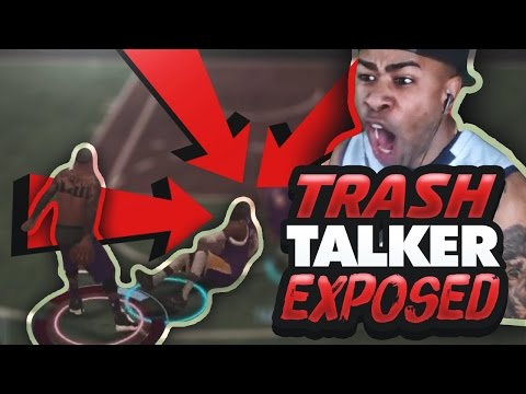 "TRASH TALKER GETS EXPOSED!! ""YOU AINT NO CLAMP GOD"" 1v1 MYCOURT NBA 2K17"
