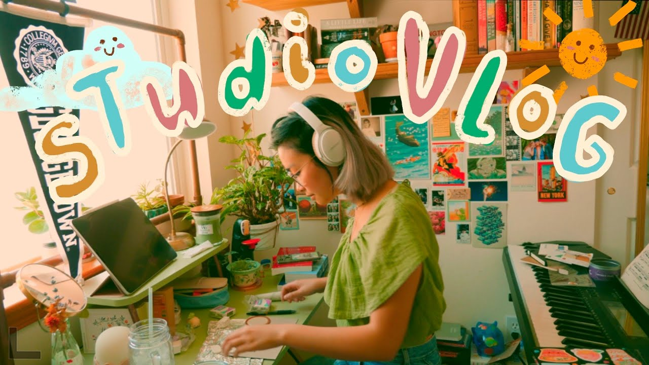 studio vlog // running my small business, making clay pins, + new sketchbook