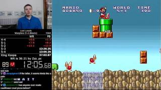 (36:49) Super Mario Bros.: The Lost Levels Warpless D-4 (Mario) speedrun