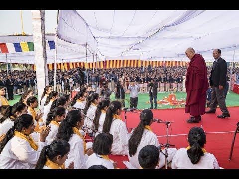 His Holiness the Dalai Lama visits Salwan Public School (Full length)