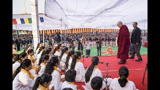 His Holiness the Dalai Lama visits Salwan Public School (Full length)