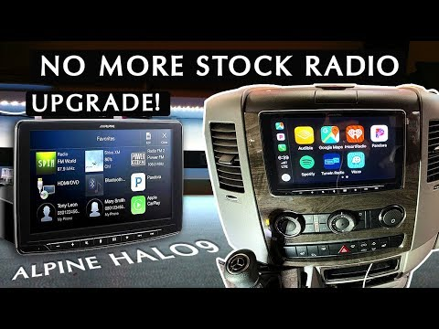 Why I Replaced My Sprinter RV's Stock Radio | Alpine Halo 9 Unboxing & Testing