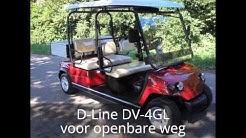 D-Line DV-4GL Golfkar met laadbak voor openbare weg
