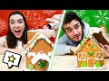 Challenging My Coworker To A Gingerbread House Competition!