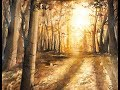 Realistic Forest in Watercolors Painting Tutorial