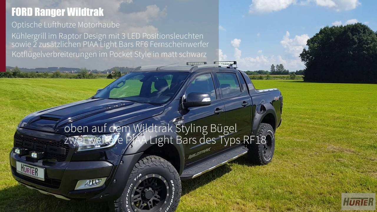 hurter offroad ford ranger wildtrak umbau f r. Black Bedroom Furniture Sets. Home Design Ideas