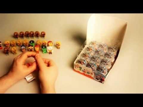 Киндер Сюрпризы со «Мстителями» — анпакинг коробки по-русски. Kinder Surpise Avengers