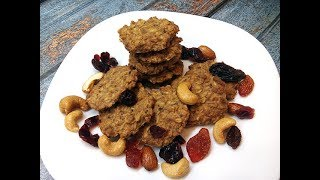 Хрустящее овсяно кокосовое печенье Без муки и яиц!!!