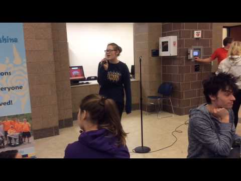 Open mic at Portage Central High School lunch Hour