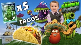 Chase & Dad play PVZ Garden Warfare: Raining Tacos! Plants Win All Time! Legends of the Lawn Pack x5