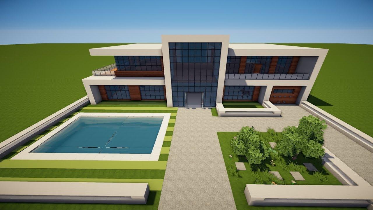 Minecraft gro es modernes haus bauen tutorial haus 96 for Modernes haus bauen