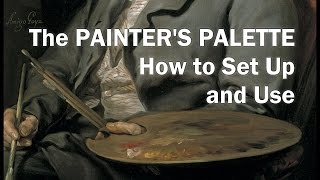 Oil Painting Workshop #3–painter's Palette–demonstration: How To Set Up A Glass Oil Painting Palette