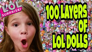 100 Layers Of LOL Dolls! 100 Layer Challenge!