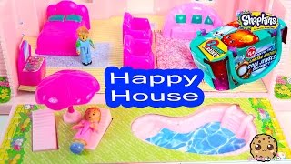 Happy House Playset with Backyard Swimming Pool + Shopkins Season 3 Blind Bag Unboxing