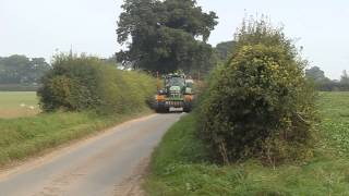 B&C Farming's drilling gang on the move - Hoveton, Norfolk