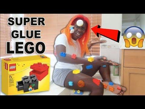 SUPERGLUE LEGO PRANK ON EVA!! (EPIC REVENGE!!)