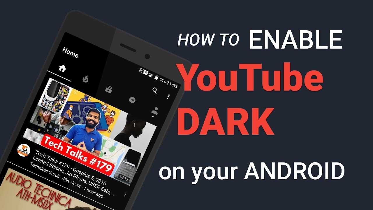 android youtube dark mode