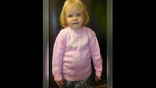 свитер спицами на 4 года, вязание спицами