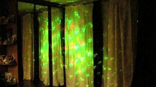 Цветомузыка мини-лазер