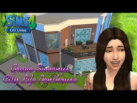 (Sims 4) Modern Penthouse: Speed Build | City Life | Grave Sweeney