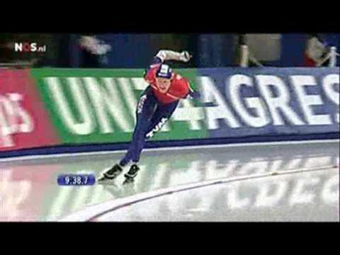 Wk Afstanden 2009 10000m Mannen Sven Kramer 2 2 Youtube